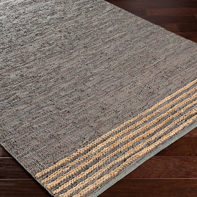Surya Lexington Laine Leather Hand Woven Rug