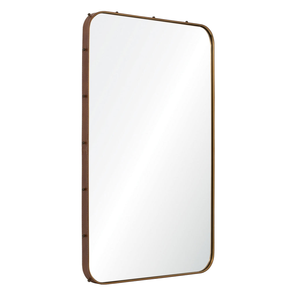Michael S Smith for Mirror Image Leather Stud Wall Mirror