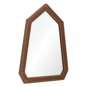 Michael S Smith for Mirror Image Leather Nailhead Wall Mirror