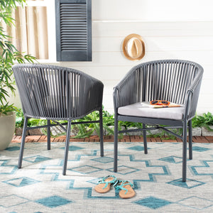Skye Rope Stackable Outdoor Chair Set of 2