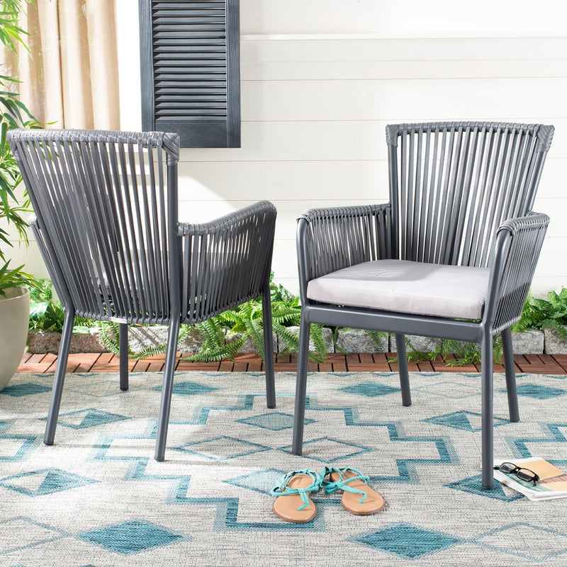 Leilani Rope Stackable Outdoor Chair Set of 2