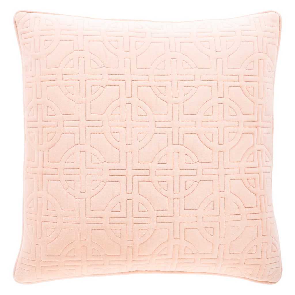 Mindy Maze Quilted Velvet Throw Pillow