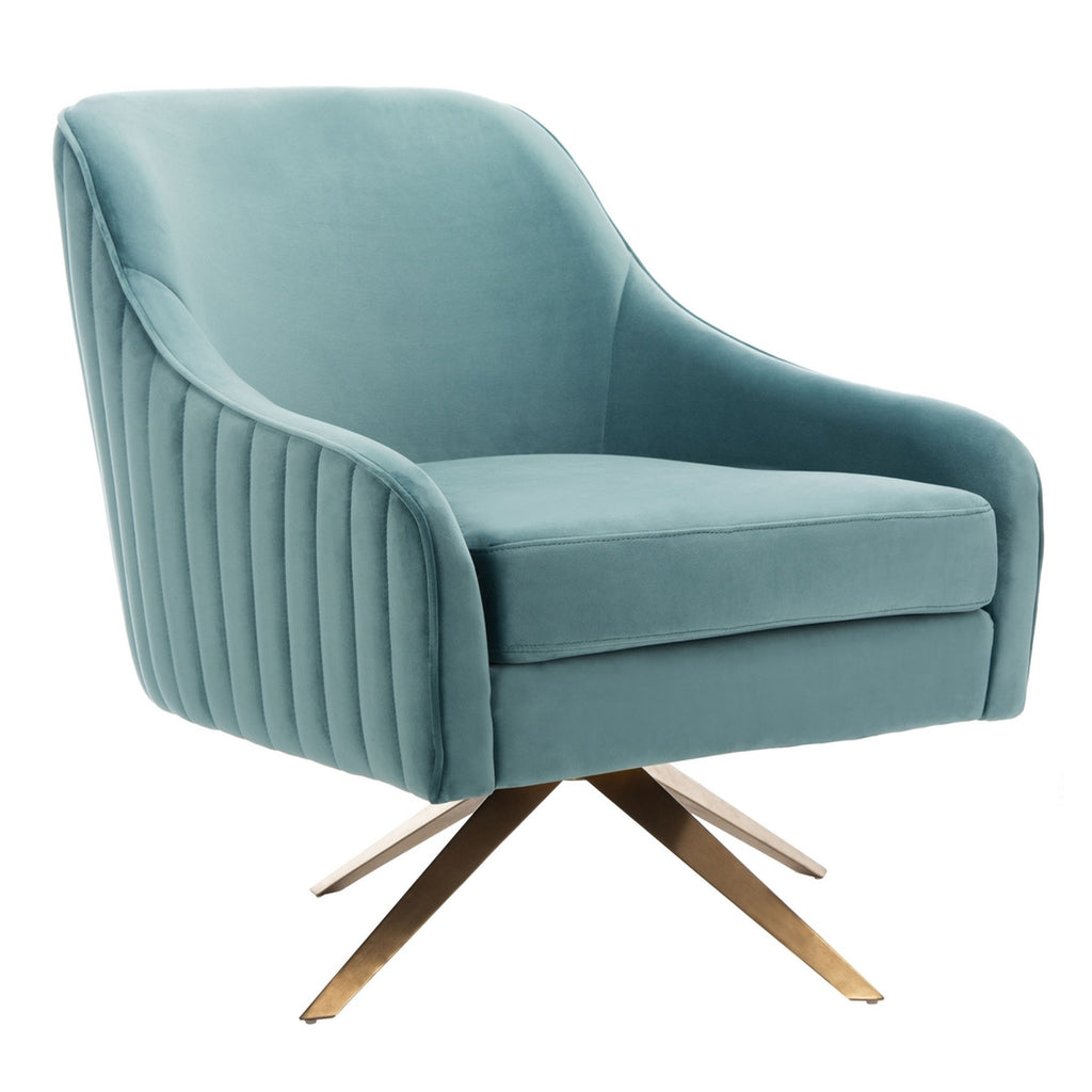 Carlson Channeled Velvet Accent Chair
