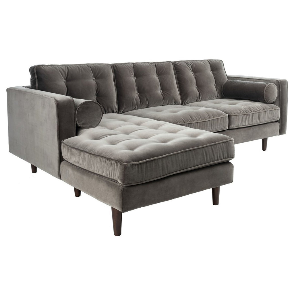 Sana Tufted Velvet Sectional Sofa
