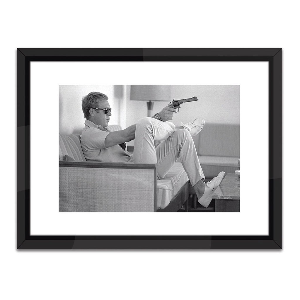 Worlds Away Steve McQueen Take Aim Framed Art