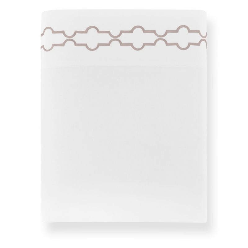 Peacock Alley Tempo Embroidered Sateen Flat Sheet