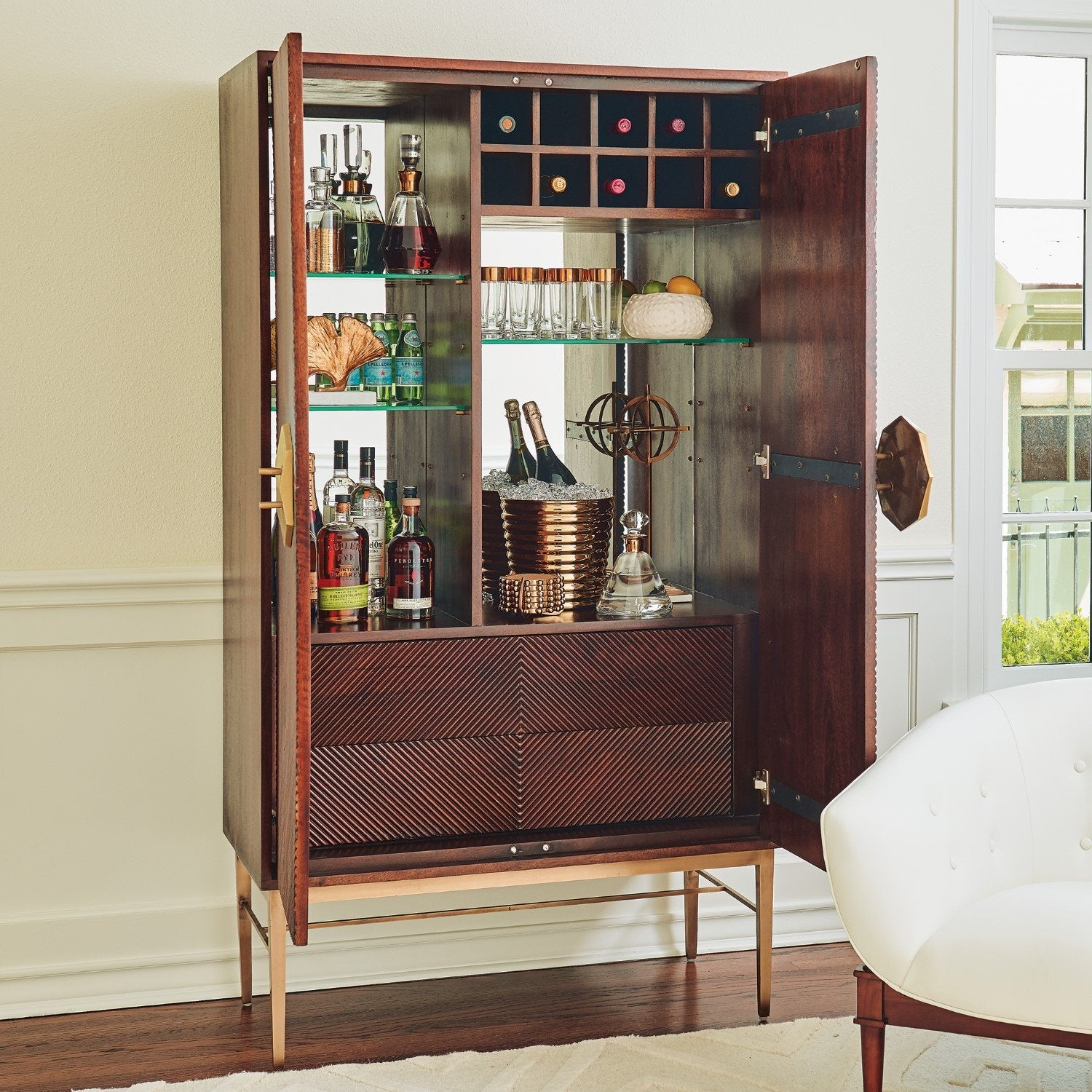 Global Views Bar Carts & Cabinets