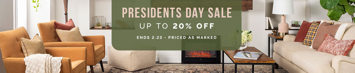 Presidents Day Sale - save up to 20% off