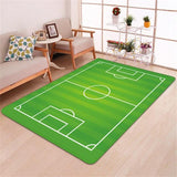 3D Memory Foam Football Rug - Coolioos
