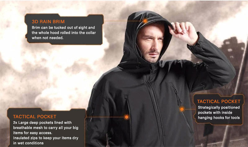 Titan Depot Softshell Waterproof Jacket Hood
