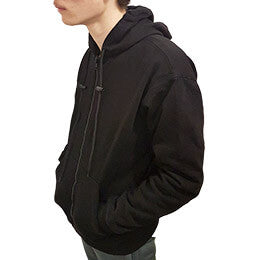 JUNIOR BLACK ANTI-SLASH HOODED TOP WITH ANTI-SLASH KEVLAR® PROTECTION