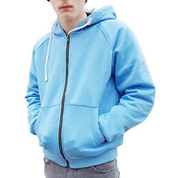 JUNIOR BLUE ANTI-SLASH HOODED TOP LINED WITH DUPONT™ KEVLAR® PROTECTION
