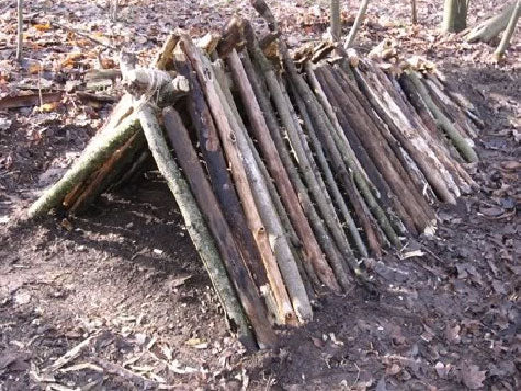 survival shelter ribbing
