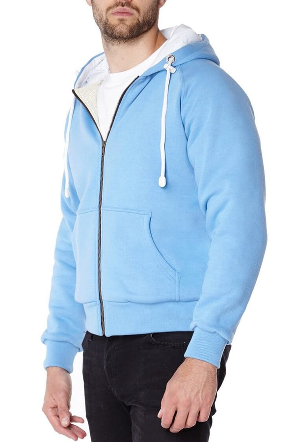 Knife Resistant Anti Slash Hooded Top in Blue