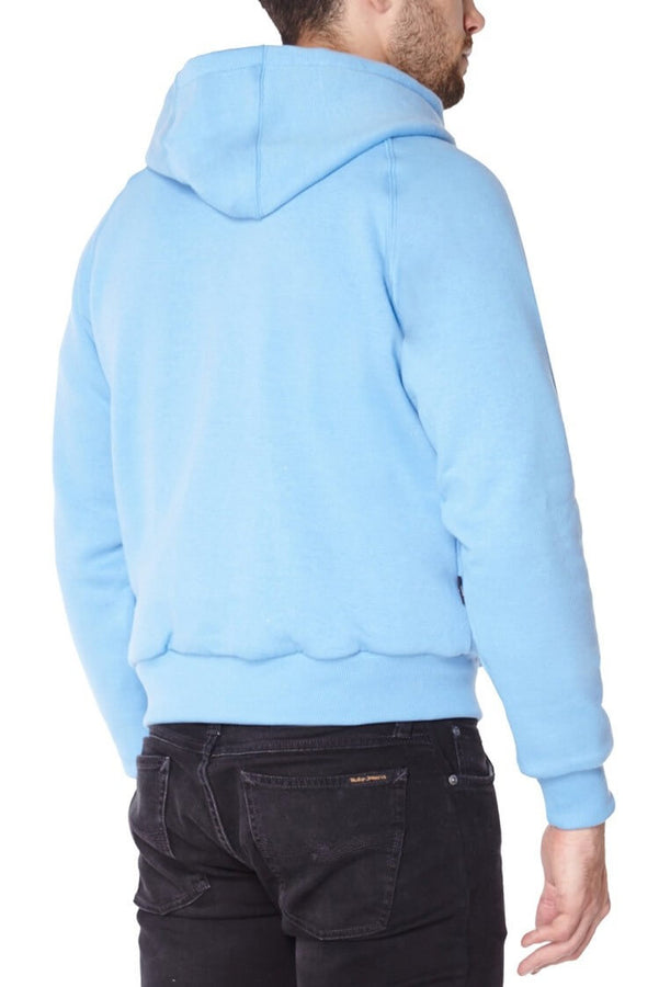 Ladies Knife Resistant Anti Slash Hooded Top in Blue