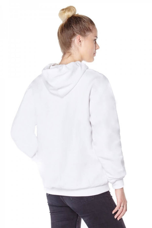 Titan Depot Ladies White Anti-Slash Hooded Top Lined With Dupont ™ Kevlar ® Fibre back view