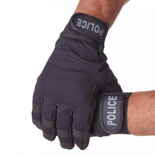 POLICE CUT RESISTANCE GLOVE LEVEL 5 PROTECTION OUTSIDE