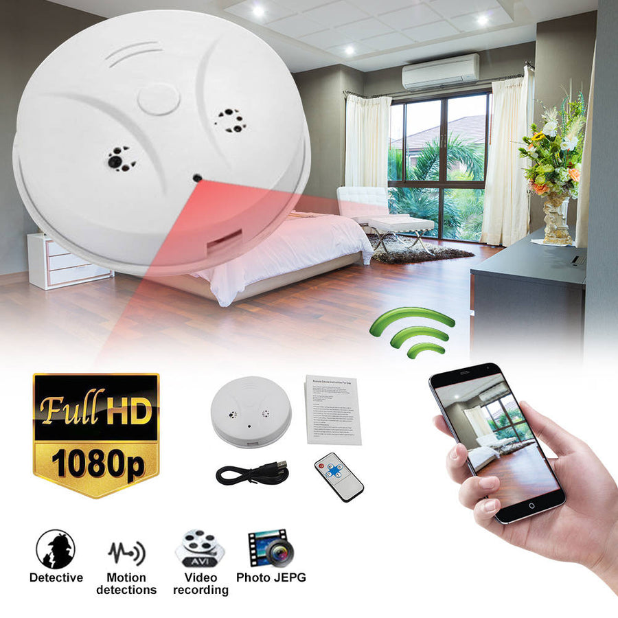 Titan Depot Secret Wifi Smoke Alarm Spy Camera