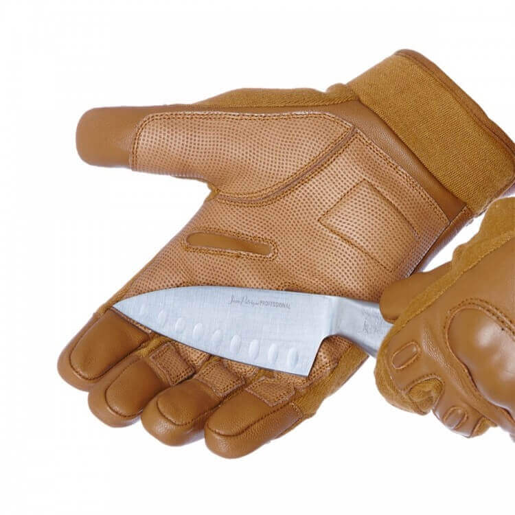 COYOTE GLOVES WITH KNUCKLE PROTECTION CUT RESISTANCE LEVEL 5 palm demo