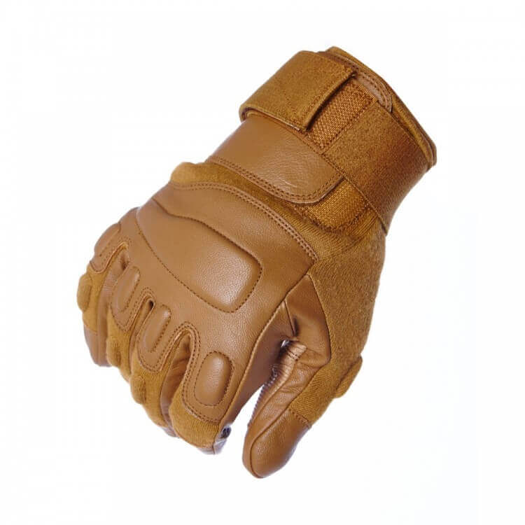 Titan Depot COYOTE GLOVES WITHOUT KNUCKLE PROTECTION knuckles