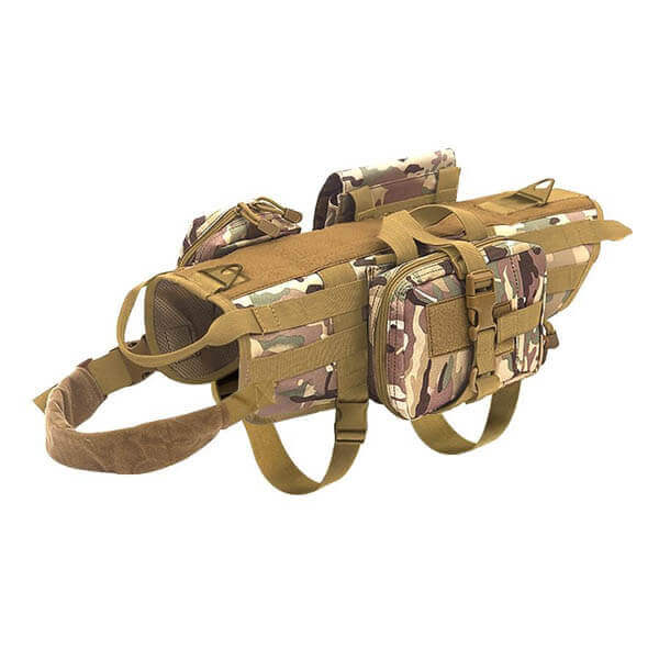 Titan Depot Tactical Dog Training Molle Vest Harness Camo
