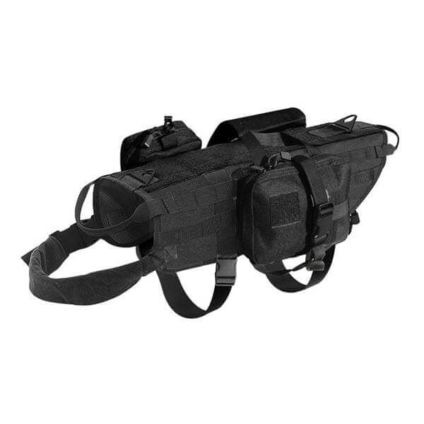 Titan Depot Tactical Dog Training Molle Vest Harness black