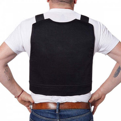 Titan Depot COVERT VESTS LIGHTWEIGHT BULLET/STAB-PROOF VEST THREAT LEVEL II back view