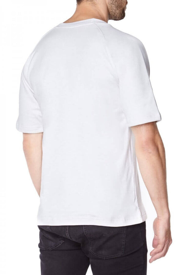 Titan Depot white Short Sleeved T-shirts Lined with Anti-Slash KEVLAR® Protection back view