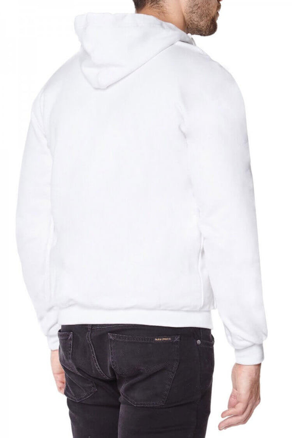 Titan Depot White Anti-Slash Hooded Top With Dupont™ Kevlar® Fibre back view