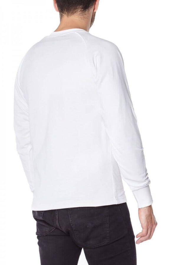 White Long sleeved T-shirts lined with Anti-Slash DUPONT ™ KEVLAR ® FIBRE back view