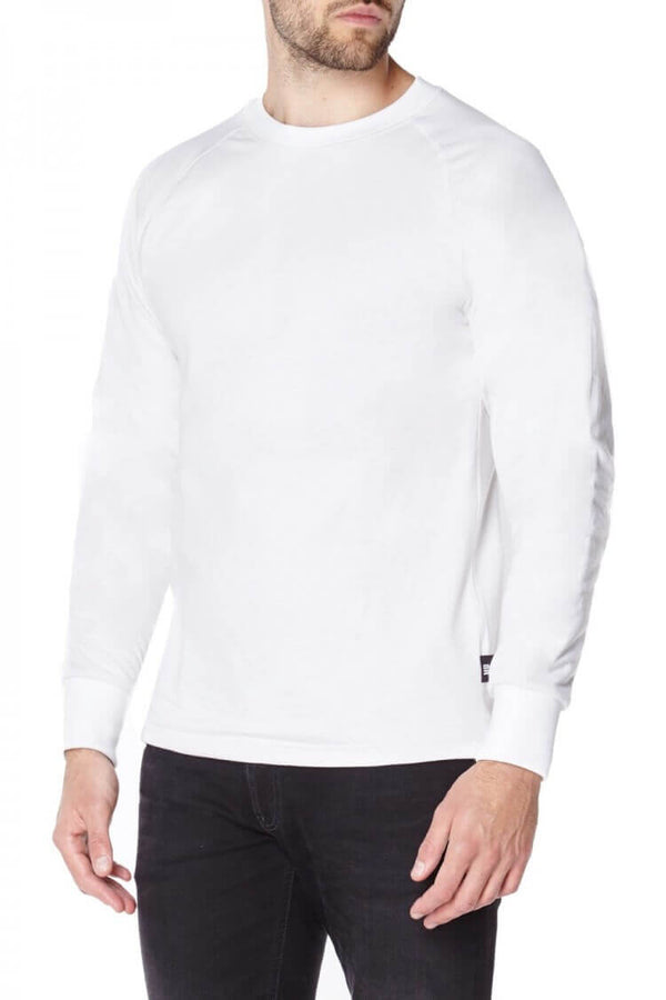 White Long sleeved T-shirts lined with Anti-Slash DUPONT ™ KEVLAR ® FIBRE front view