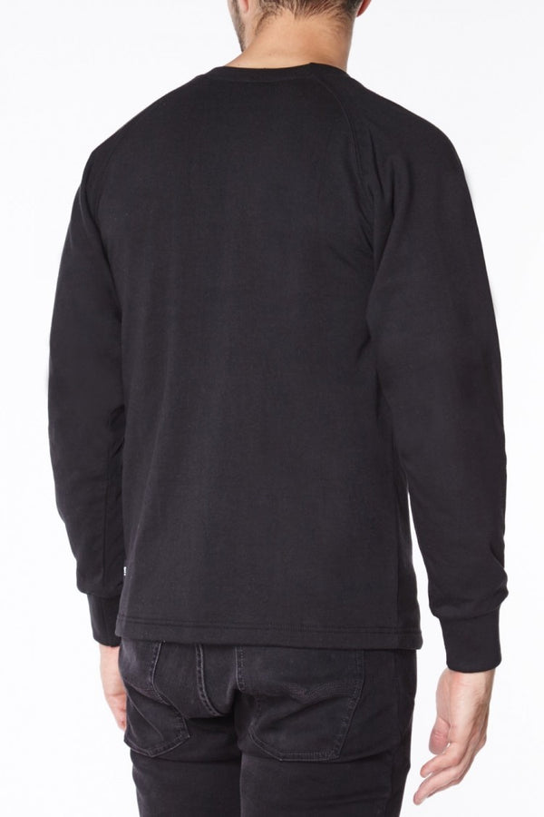 Titan Depot BLACK ANTI-SLASH LONG SLEEVED T-SHIRTS LINED WITH DUPONT ™ KEVLAR ® FIBRE back view