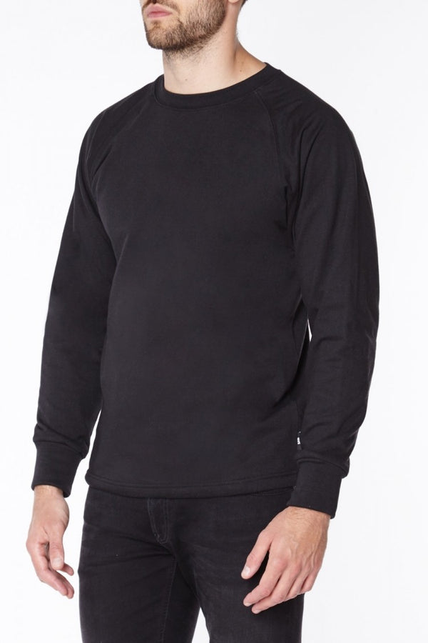 Titan Depot BLACK ANTI-SLASH LONG SLEEVED T-SHIRTS LINED WITH DUPONT ™ KEVLAR ® FIBRE front view
