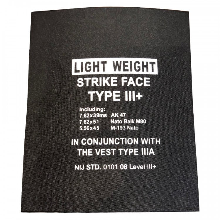 LIGHTWEIGHT BULLET PROOF PLATE - LEVEL III+ PROTECTION