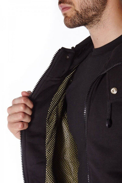 Black Anti-Slash Hooded Top Lined With Dupont ™ Kevlar ® Lining