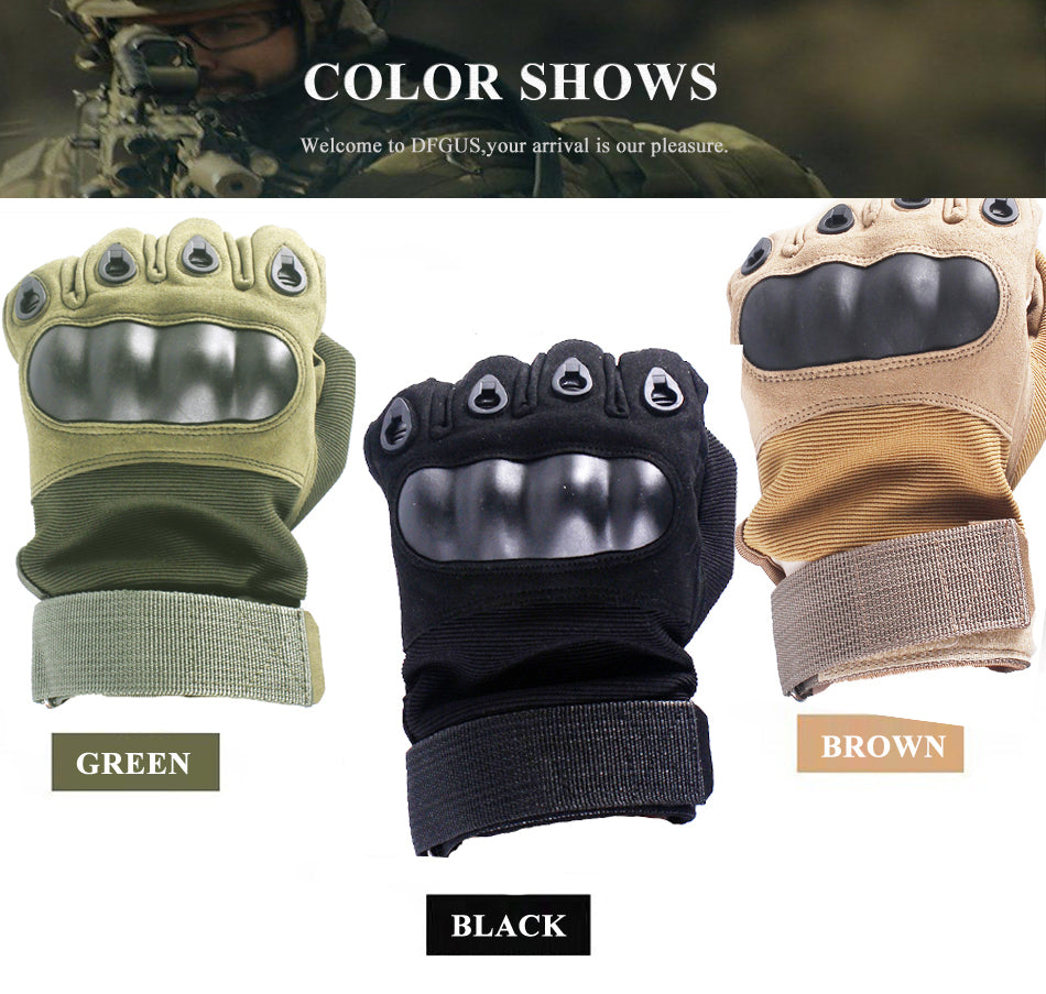 Tactical Gloves With Hard Rubber Knuckle diagram