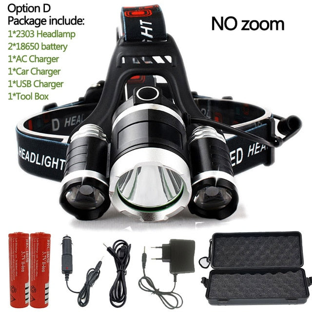 T6 LED Headlamp 15000LM