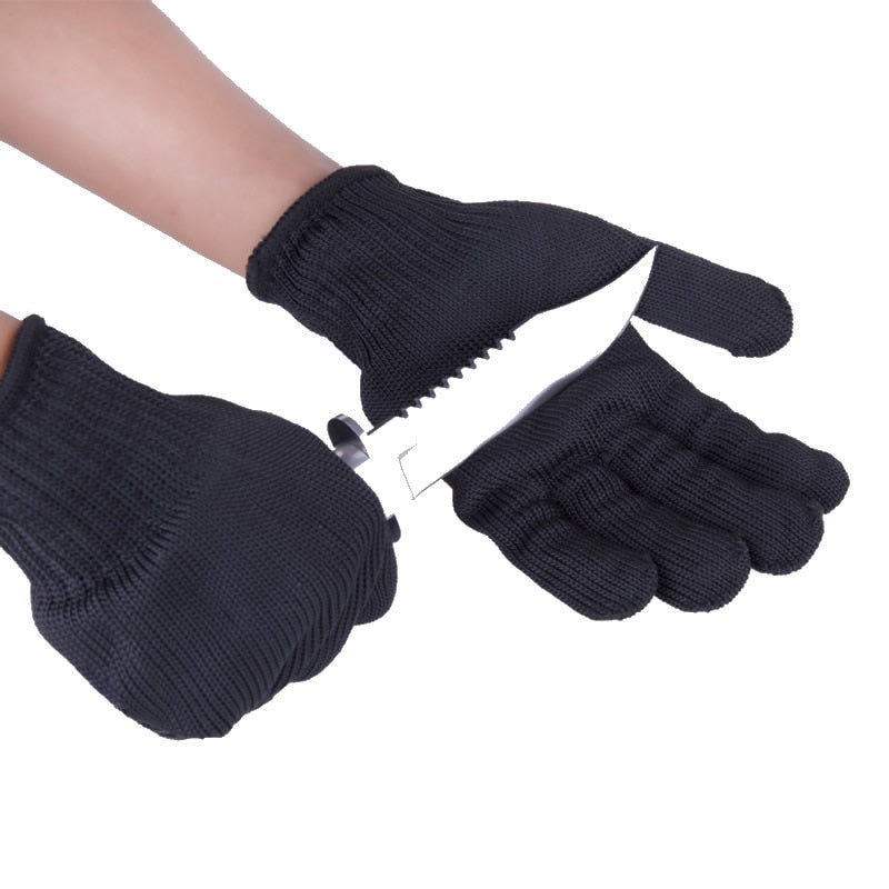 Cut/slash Resistant Safety Gloves with infused Stainless Steel Wire Mesh