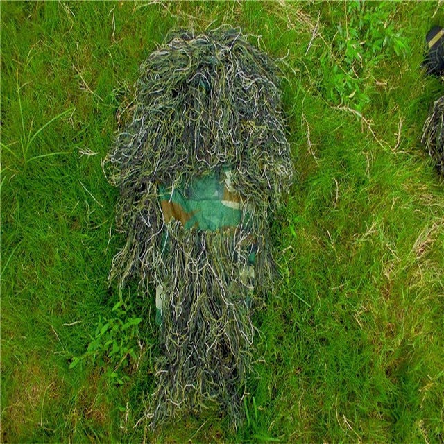 Hunting Ghillie Suit / Classic Airsoft Ghillie Suit in Green Grass Camouflage