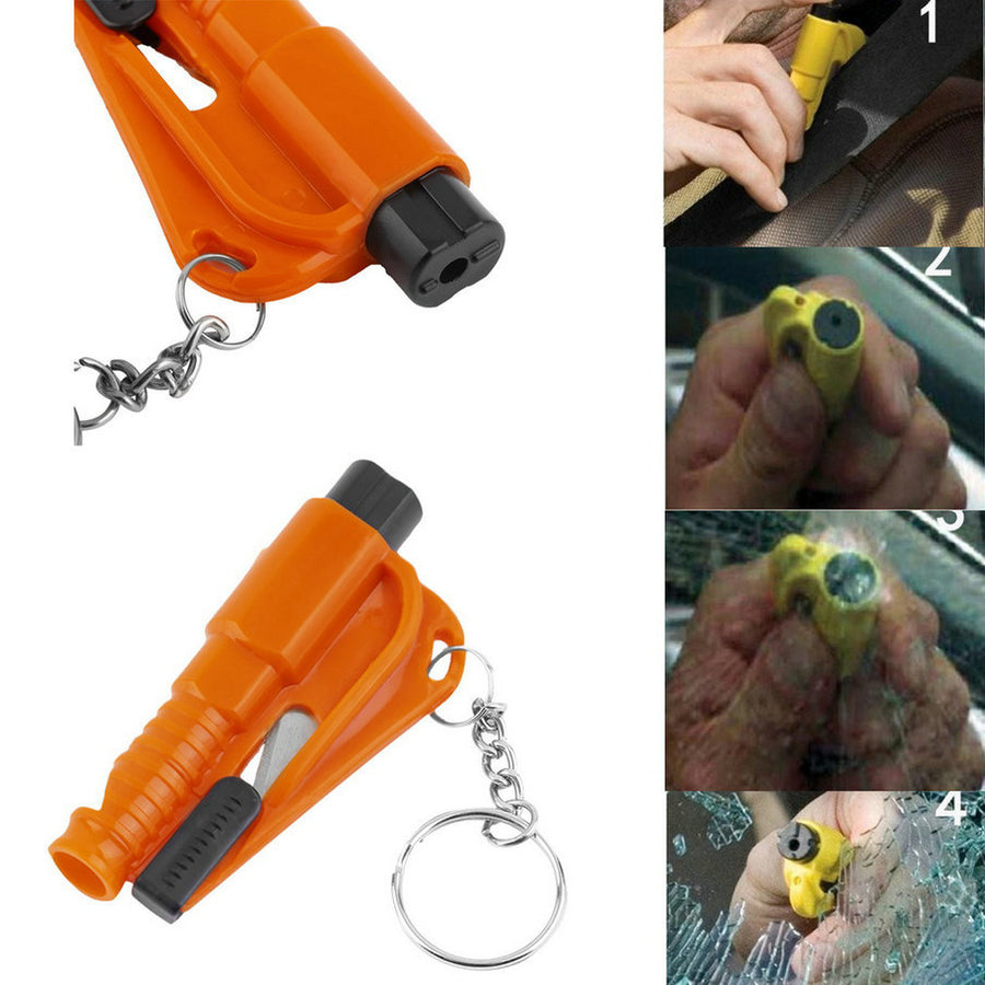 3 in 1 Car Window Breaker, Emergency Safety Hammer & Seat Belt Cutter