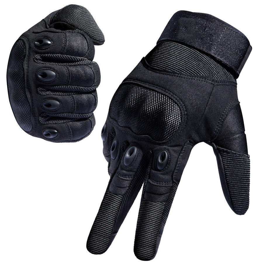 TITAN DEPOT Tactical Gloves With Hard Rubber Knuckles