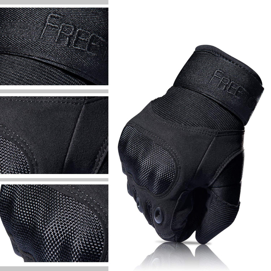 TITAN DEPOT Tactical Gloves With Hard Rubber Knuckles material diagram