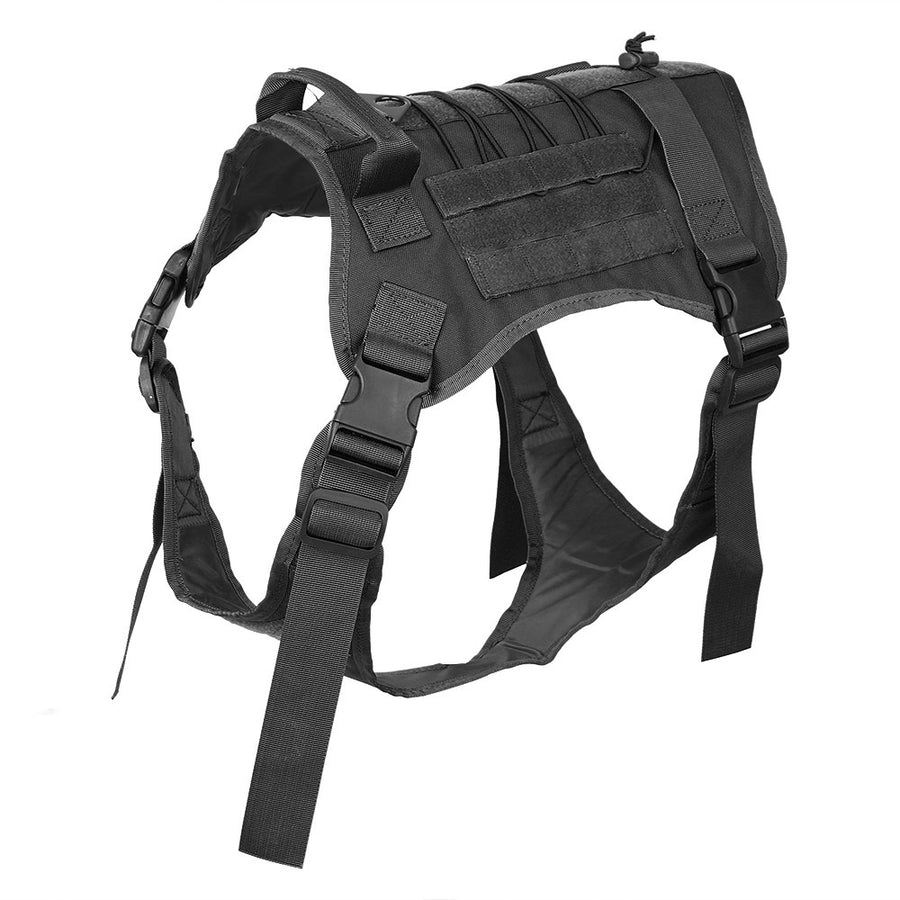 Service Dog Tactical Vest Harness With Molle System Gear