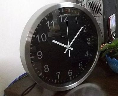 WiFi Spy Surveillance Wall Clock With Hidden Video 1080x720p Camera - in situ view