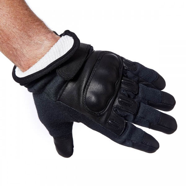 Level 5 Cut Resistance Coyote Gloves In Black With Knuckle Protection