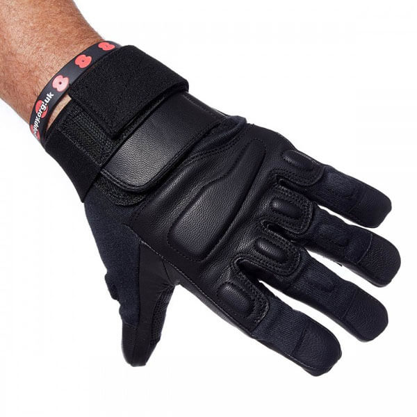 Level 5 Cut Resistance Coyote Gloves In Black Without Knuckle Protection 1