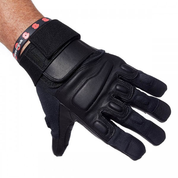 Level 5 Cut Resistance Coyote Gloves In Black Without Knuckle Protection