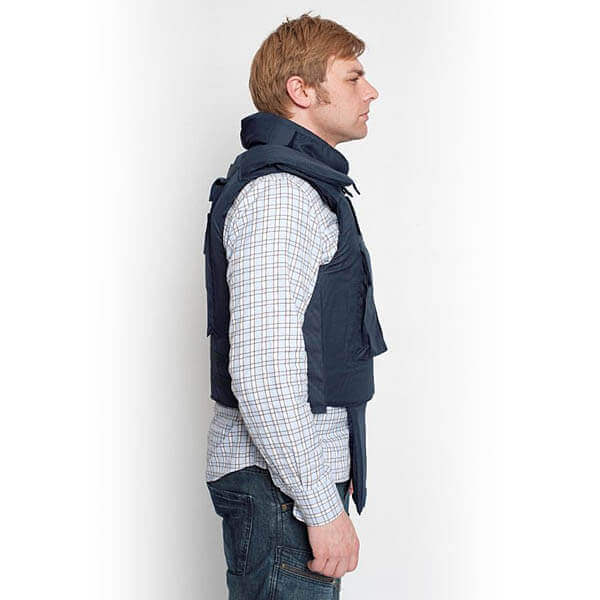 titan depot BULLET PROOF PRESS JACKET WITH NECK & GROIN PROTECTION side view