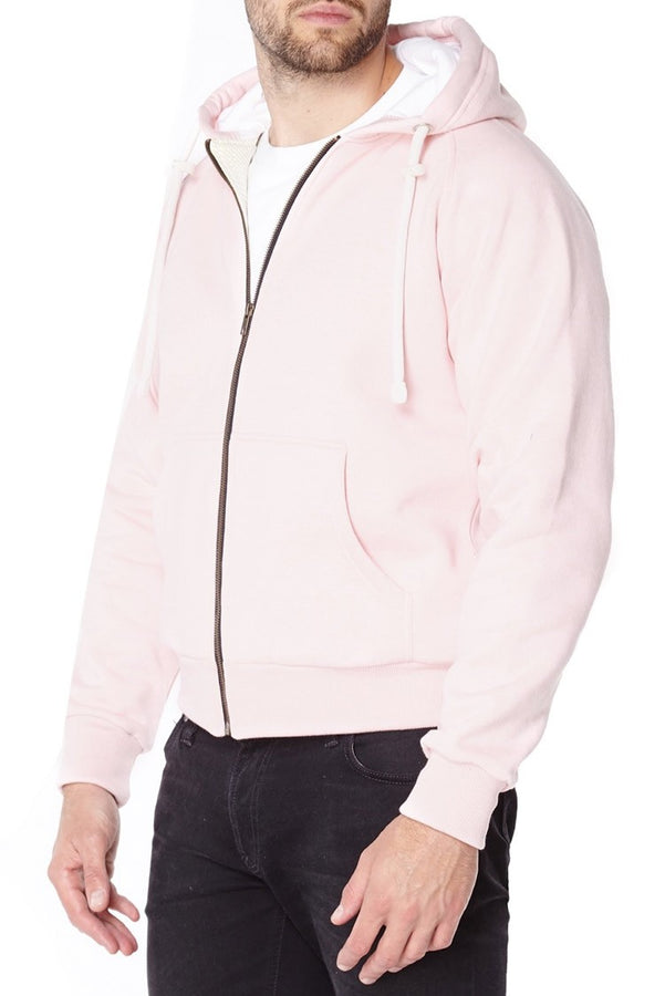 Ladies Knife Resistant Anti Slash Hooded Top in Pink