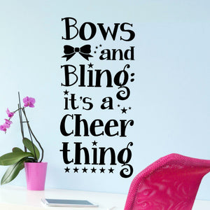 Bows and Bling - Cheerleading Wall Decals